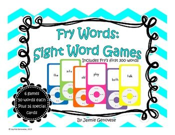 Fry sight words 1-300, great for differentiation. $