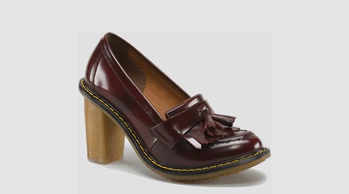 heeled Doc Martens loafers
