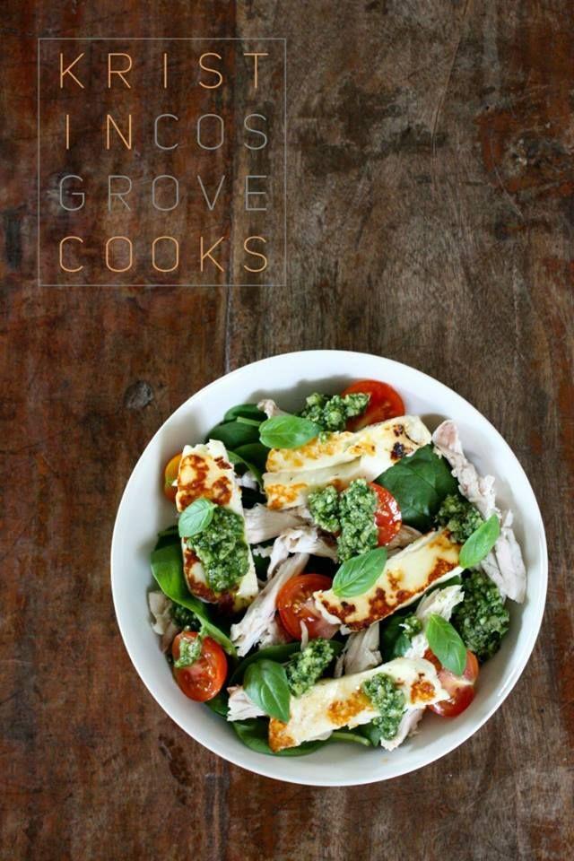 Sun dried tomato + basil roasted chicken salad I kristincosgrovecooks.com
