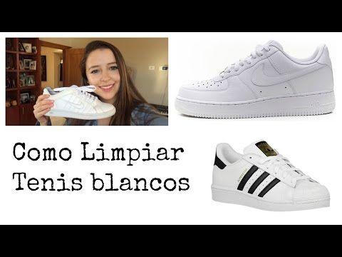 Como Limpiar Tus Tenis Blancos Quedan Como Nuevos Youtube Limpieza De Zapatos Blancos Tenis Blancos Tenis Blancos Adidas