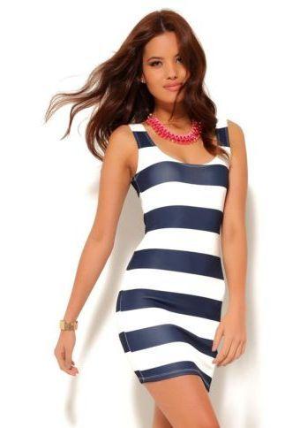 Pruhované šaty bez rukávů #ModinoCZ  #strips #fashion #modern #trend #clothing #pruhy #oblékání #moda #trendy