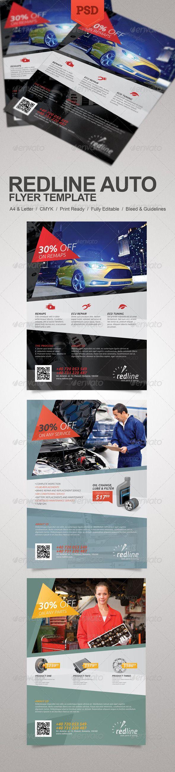 Auto body repair checklist template success success auto repair shop - Redline Auto Flyer