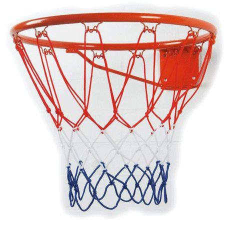 Basketbal ring met net  Basketbal ring met net. Professionele basket met net ongeveer 46 cm groot. De ring is rood met ook een rood/ wit/blauw gekleurd netje. Dikte van de ring 16 mm. Diameter 46 cm. Bevestingsmateriaal wordt meegeleverd. De basket is eenvoudig zelf te monteren. Geschikt voor binnen en buiten.  EUR 19.95  Meer informatie  #sinterklaas #zwartepiet