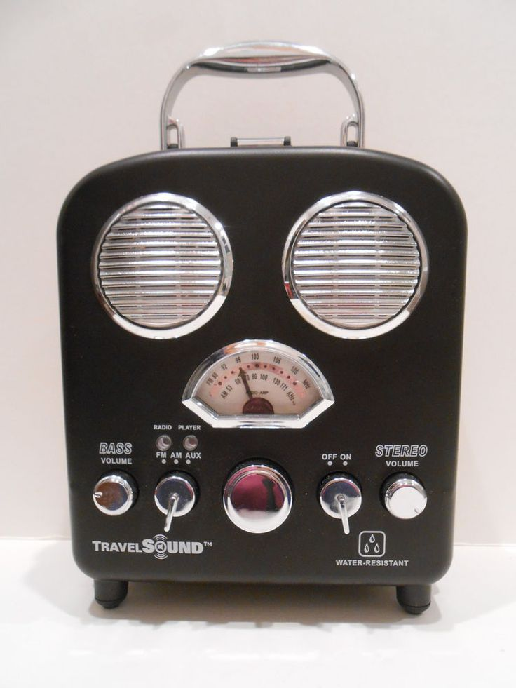 i.Sound Audio Box Water Resistant Portable Speakers & AM/FM Radio Brand New #iSound