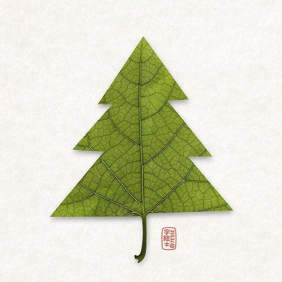 leaf christmas tree @italianbark #designtime unconventional christmas ideas