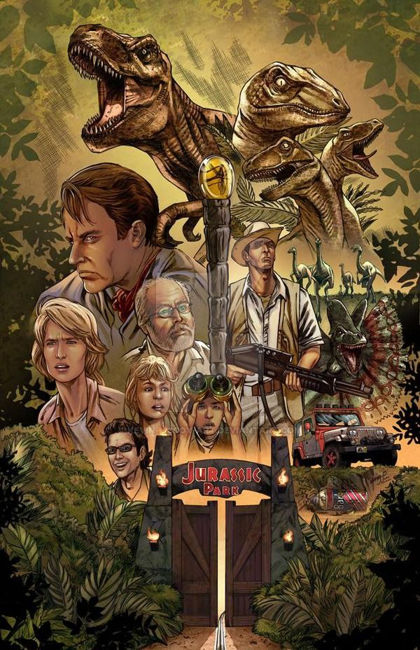 In celebration of Jurassic World...I give you my Jurassic Park montage movie poster. Hope you guys like it. Ivan Nunez killed it with the colors yet again. Lines: Colors: Lineart:...