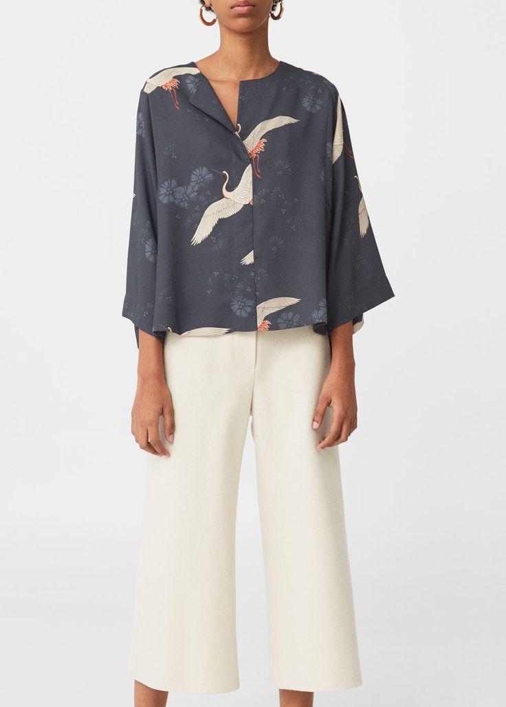 Blusa estampada | MANGO