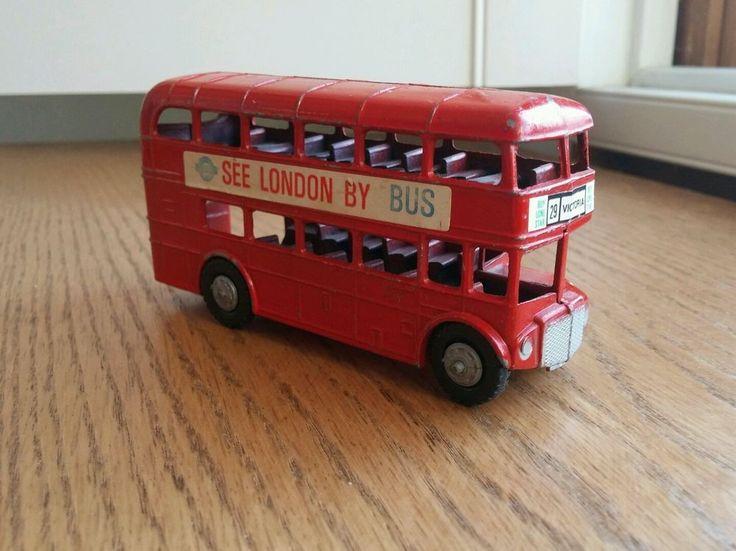 Vintage Toy Metal Double Decker Lone Star Bus London England Souvenir  #LoneStar