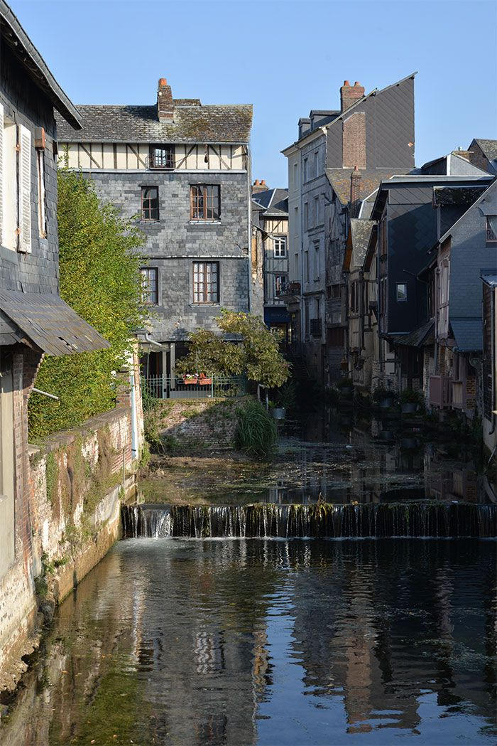 Beautiful city Pont-Audemer in Eure, Normandy