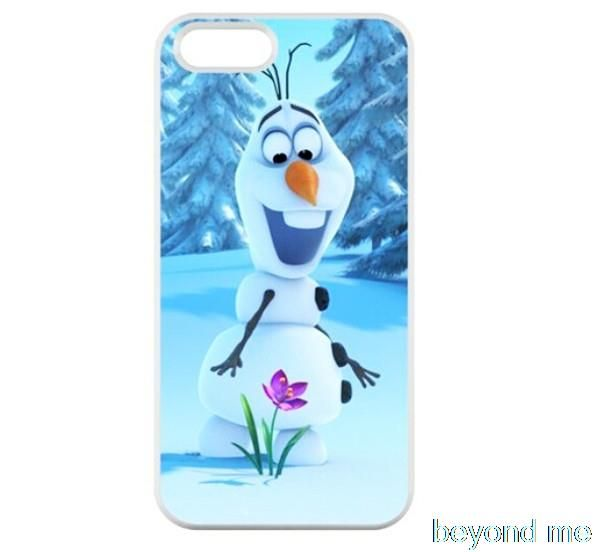 cute Snowman olaf Cover case for iphone 4 4s 5 5s 5c 6 6s plus samsung galaxy S3 S4 mini S5 S6 Note 2 3 4  z0497
