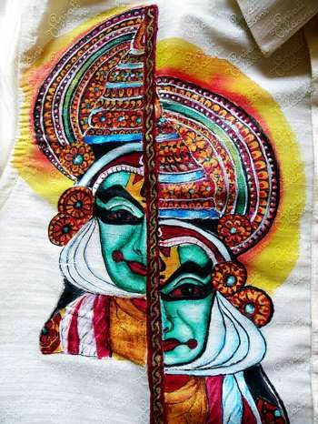 """""""Kathkali - Fabric Painting On Shirt"""" #Creative #Art in #painting @Touchtalent http://bit.ly/Touchtalent-p"""