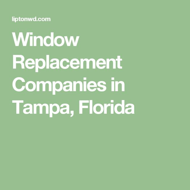 Window Replacement Companies in Tampa, Florida