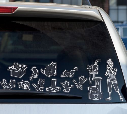 CAT LADY CAR STICKERS--Needed...