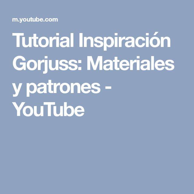 Tutorial Inspiración Gorjuss: Materiales y patrones - YouTube