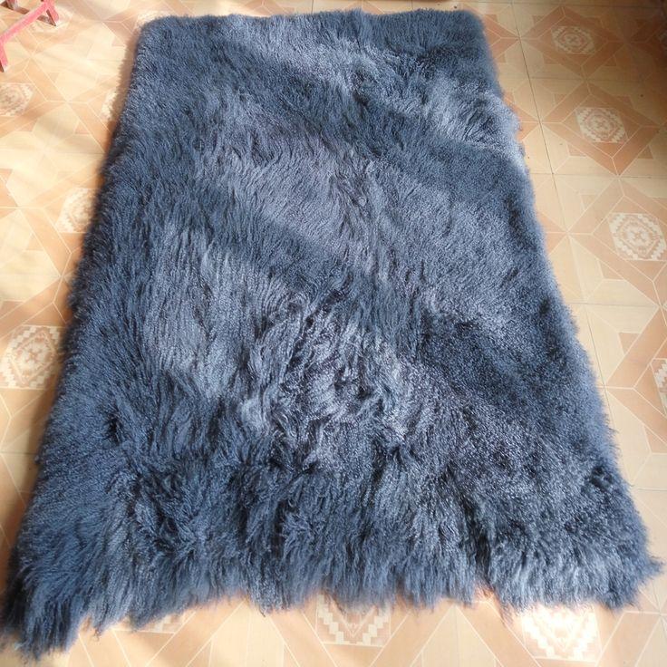 Grey Mongolian Fur Blanket For Bed Home Rugs and Carpets For Living Room Tibetan Real Fur Rug Sheepskin Blankets Bedrooms #Affiliate