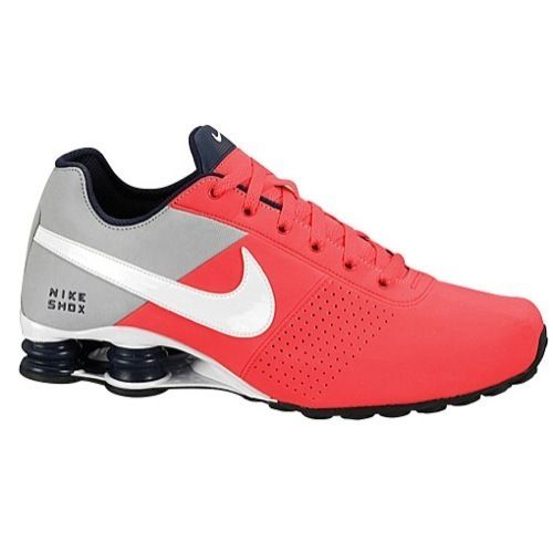 low priced e0133 bd5b3 CLASSIC MENS NIKE SHOX DELIVER LEATHER RUNNING SHOES PIMENTO   PLATINUM    GREY in Clothing,