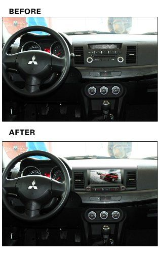Bluelotus® Mitsubishi Lancer 2008 2009 2010 2011 2012 2013 Double Din In-dash 8 Inch Touch Screen TFT LCD Monitor Car GPS Navigation System Car Stereo DVD Player with Bluetooth TV Radio,Steering Wheel Control,RDS Sd/usb Ipod Av BT AUX IN  Free Backup Camara  Free Gps Map of US www.productsforau.....