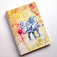 Labdázó pöttyös elefántok Spirálfüzet #illusztráció#akvarell#füzet#design#colorful#elefánt