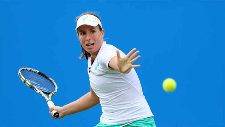 Second seed Johanna Konta suffers second-round exit at Aegon Open