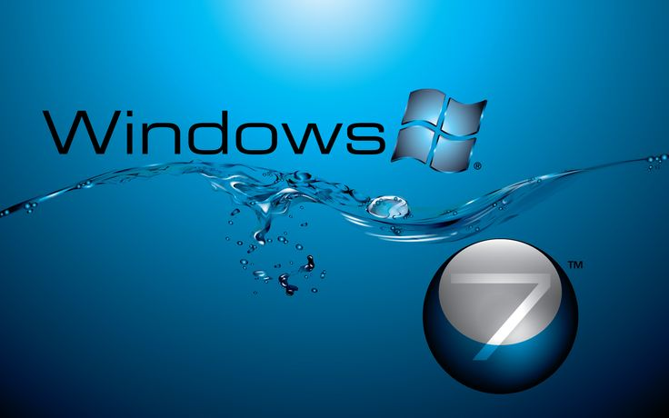 Windows 7 In Water Flow Wide - Hd Wallpapers (High Definition) | 100% HD Quality ...