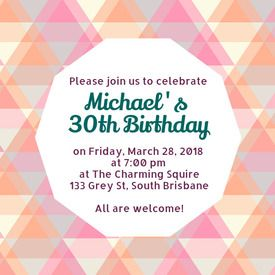 Desygner Invitation Templates - Square Size / Free printable DIY birthday invitations made by you in Desygner! Perfect for anyone's birthday! Get the template with Desygner to create one perfect for your party.