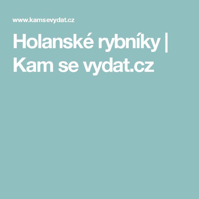 Holanské rybníky | Kam se vydat.cz