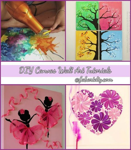 DIY Wall Canvas Craft Ideas for Home Wall Decoration on imgfave