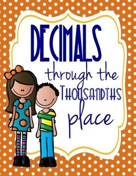 Decimals through the Thousandths Place: Standard, Word, and Fraction Form.  Guided notes and exit quiz! 5.NBT.3a