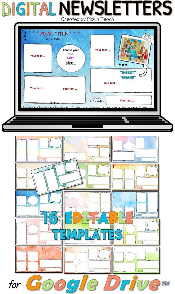 Distance Learning 16 Editable Classroom Newsletters Google Drive