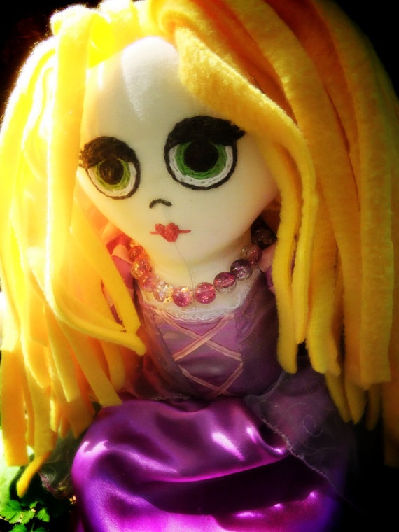 Handmade Rapunzel Rag Doll by FunkyFrillsUK on Etsy, £124.99