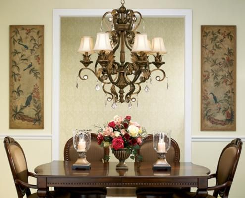 traditional chandelier with scrolls picture dining room - Dining Room Chandeliers Traditional
