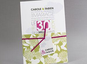 Faire-part mariage M26-015-V