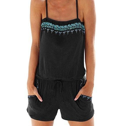 Oferta: 5.99€. Comprar Ofertas de Monos de playa, Sannysis Trajes sin mangas con pantalón corto (XL, Negro) barato. ¡Mira las ofertas!