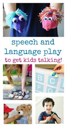 Speech and language activities that promote talking