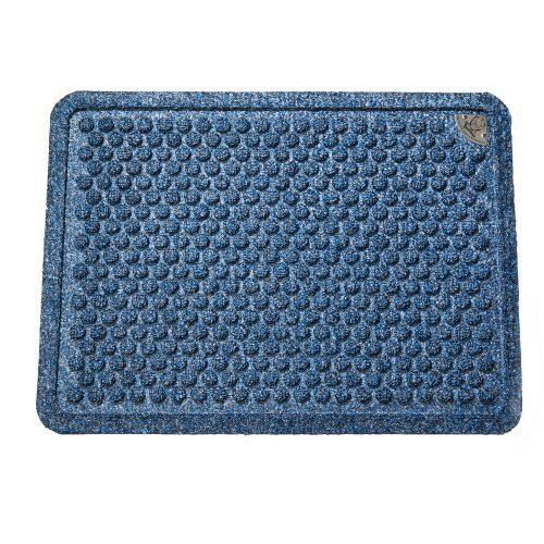 Dr. Doormat Antimicrobial Treated Doormat 18-Inch by 24-Inch, Peacock Blue by Dr. Doormat. $29.99. Durable, flexible, industrial strength, rubber backing with molded rubber nibs reduces mat movement; Elegant bubble pattern scrapes dirt and grit off shoes while removing moisture at the same time; Doormat is framed with a raised, inch wide border that forms a tray trapping water and dirt; Surface area is made of the highest quality stain resistant recycled and virgin polypropylen...