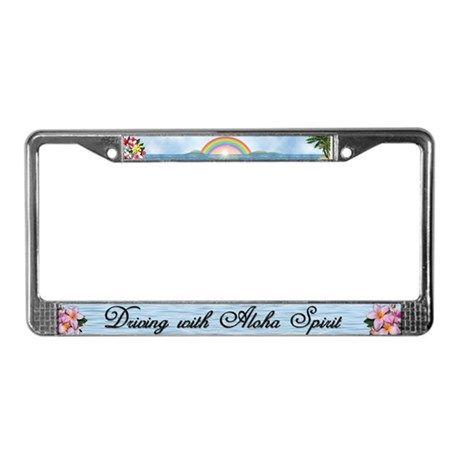 "License Plate Frame ""Aloha Spirit"" on CafePress.com"