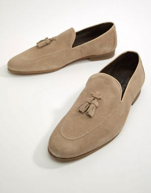 river island suede loafer with tassel in sand with images