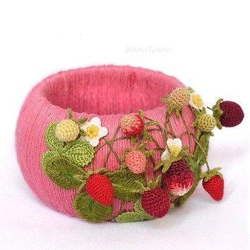 Браслет с вязаными элементами: ru_knitting