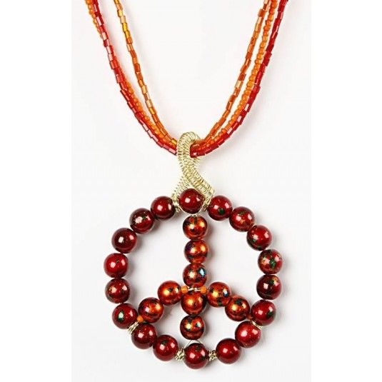 Necklace with a peace sign