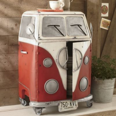 Not sure where I'd put this but it's so cute! Retro Bus Cabinet
