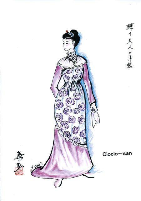 Costume sketch for Ciocio-san (2)