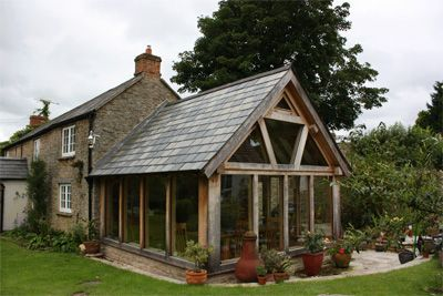Timber-framed extension