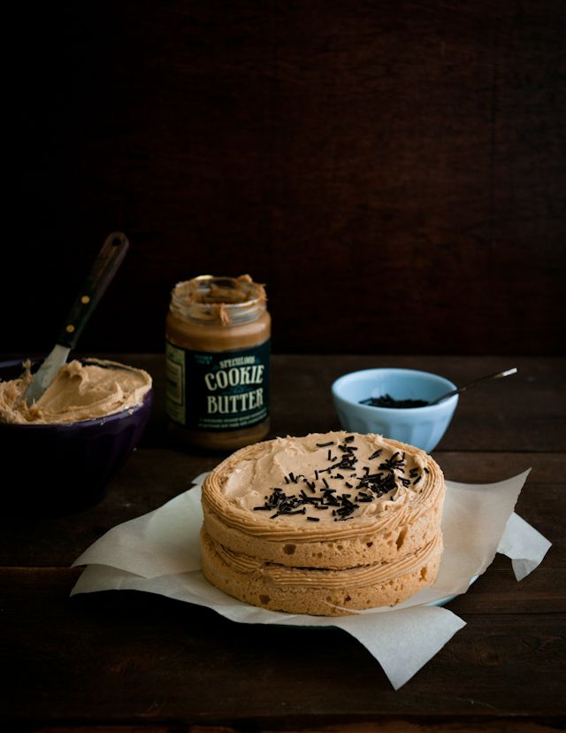 cookie butter cake - it's a really good thing we don't have a Trader Joe's around here or I'd be making this right now!