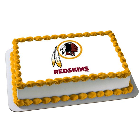NFL Washington Redskins Edible Image Cake Decoration, FREE shipping offer, 50% off tableware, and same day order processing from Birthday Direct - NFL Washington Redskins Party Supplies