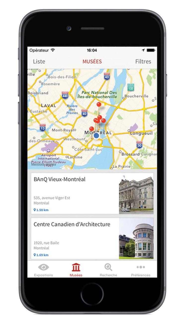 Avec notre nouvelle application iOS Musées Montréal, vous pouvez découvrir en un seul clic les musées à proximité de vous. Sympathique n'est-ce pas?