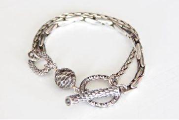 REMINISCENCE PARIS Python & Silver Bar & Loop Bracelet Purchase: $150.00 CAD
