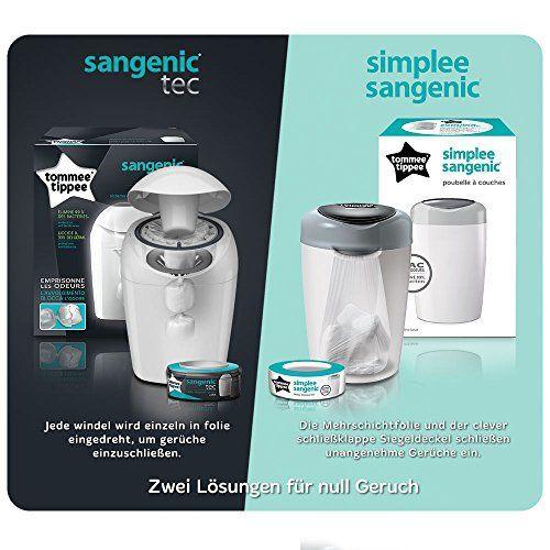 Tommee Tippee – Pack poubelle à couches + 6 recharges: Ce pack comprend : une poubelle à couche Sangenic, 6 recharges compatibles pour…