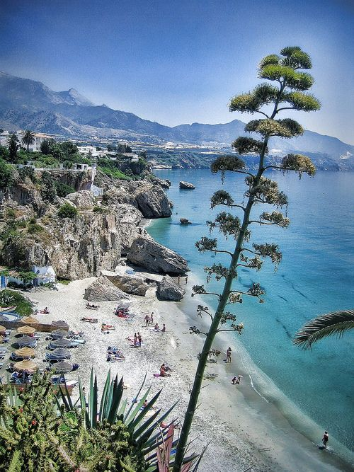 Nerja, Malaga, Spain. Travel in Spain and learn the real Spanish with the Eurolingua Institute http://www.eurolingua.com/spanish/spanish-homestays-in-spain