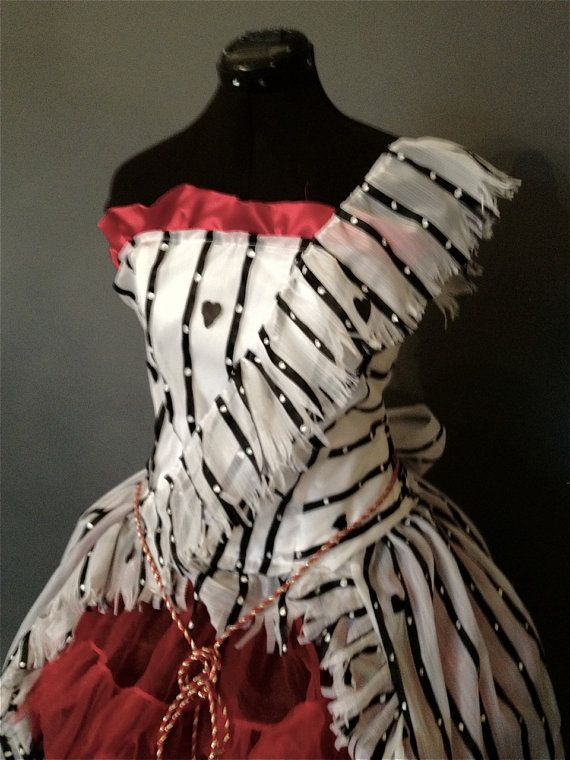 Yay this picture is MY dress, at least I was the first, she designed this for me but you could still get one...so it should be my first pin here :)    Alice in Wonderland Red Um Dress Recreation by Deconstructress, $550.00