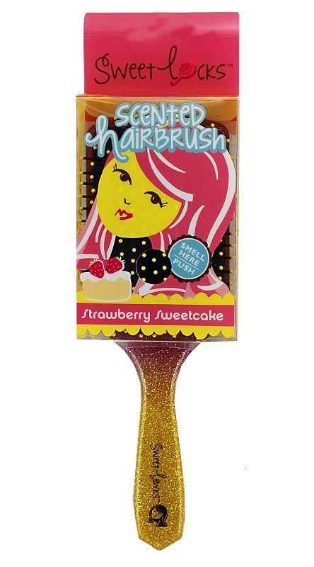 Sweetlocks Strawberry Sweetcake Scented Hairbrush | Fruity Scent Hair Brush, Unique Gift for Teen Tween Girl, Stocking Stuffer | Catching Fireflies
